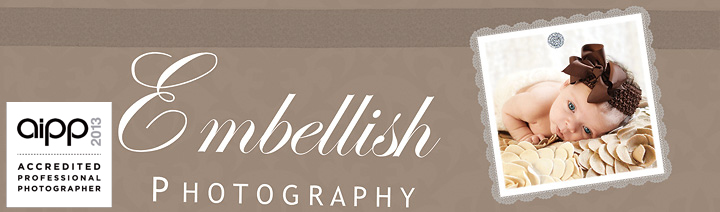 Embellish Photography – Adelaide newborn, maternity, baby, children and family portraiture logo